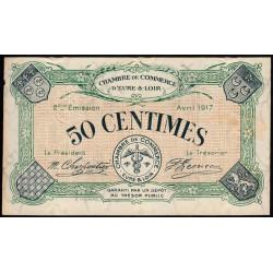 Chartres (Eure-et-Loir) - Pirot 45-5 - 50 centimes - 1917 - Etat : SUP+