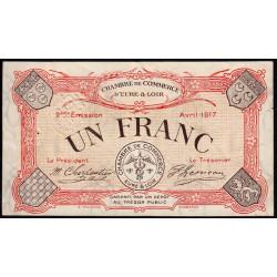 Chartres (Eure-et-Loir) - Pirot 45-7 - 1 franc - 1917 - Etat : SUP