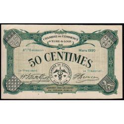 Chartres (Eure-et-Loir) - Pirot 45-9 - 50 centimes - 1920 - Etat : SUP+