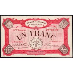 Chartres (Eure-et-Loir) - Pirot 45-13 - 1 franc - 01/1921 - Etat : SPL