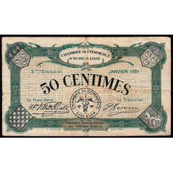 Chartres (Eure-et-Loir) - Pirot 45-11 - 50 centimes - 01/1921 - Etat : TB-