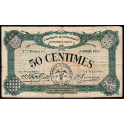 Chartres (Eure-et-Loir) - Pirot 45-11 - 50 centimes - 1921 - Etat : TB-