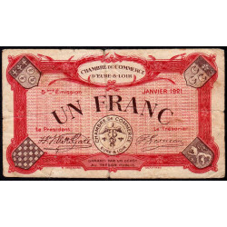 Chartres (Eure-et-Loir) - Pirot 45-13 - 1 franc - 01/1921 - Etat : TB-