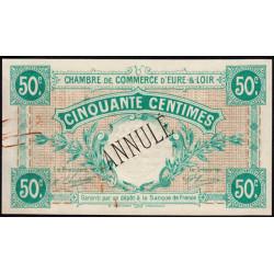 Chartres (Eure-et-Loir) - Pirot 45-2 - 50 centimes - Annulé - 1915 - Etat : SUP