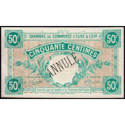 Chartres (Eure-et-Loir) - Pirot 45-2 - 50 centimes - Annulé - 1915 - Etat : SPL
