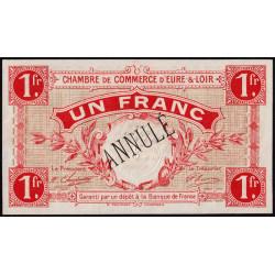 Chartres (Eure-et-Loir) - Pirot 45-4 - 1 franc - Annulé - 1915 - Etat : pr.NEUF