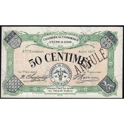 Chartres (Eure-et-Loir) - Pirot 45-6 - 50 centimes - Annulé - 1917 - Etat : SPL+