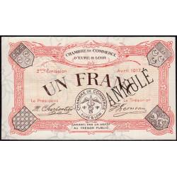 Chartres (Eure-et-Loir) - Pirot 45-8 - 1 franc - Annulé - 1917 - Etat : SPL+