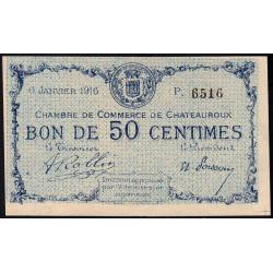 Chateauroux - Pirot 46-16-P - 50 centimes - 1916 - Etat : NEUF