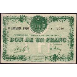 Chateauroux - Pirot 46-17-A - 1 franc - 1916 - Etat : SUP