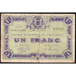 Chateauroux - Pirot 46-21 - 1 franc - 26/12/1919 - Etat : TB-