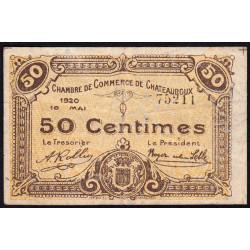 Chateauroux - Pirot 46-22 - 50 centimes - 1920 - Etat : TB