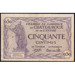 Chateauroux (Indre) - Pirot 46-24 - 50 centimes - 1920 - Etat : TB+