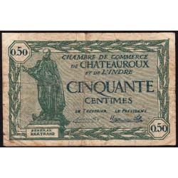 Chateauroux (Indre) - Pirot 46-28 - 50 centimes - Série A - 03/02/1922 - Etat : TB-