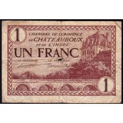 Chateauroux (Indre) - Pirot 46-30 - 1 franc - Série A - 03/02/1922 - Etat : B