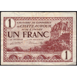 Chateauroux (Indre) - Pirot 46-30 - 1 franc - Série D - 03/02/1922 - Etat : TTB