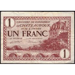 Chateauroux (Indre) - Pirot 46-30-D - 1 franc - 1922 - Etat : TTB