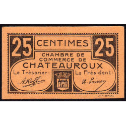 Chateauroux - Pirot 46-33 - 25 centimes - Série A - Sans date - Etat : pr.NEUF
