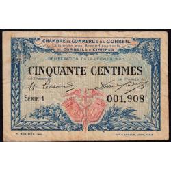 Corbeil - Pirot 50-1 - 50 centimes - Série 1 - 16/02/1920 - Etat : TB-