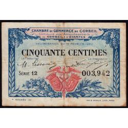Corbeil - Pirot 50-1 - 50 centimes - Série 12 - 16/02/1920 - Etat : TB