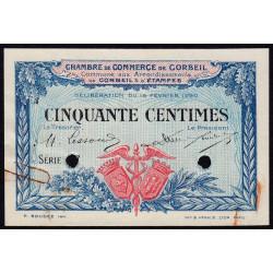 Corbeil - Pirot 50-2 - 50 centimes - Série .7 - 16/02/1920 - Spécimen - Etat : SUP