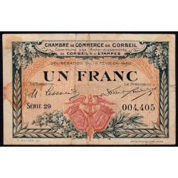 Corbeil - Pirot 50-3 - 1 franc - Série 29 - 16/02/1920 - Etat : TB-