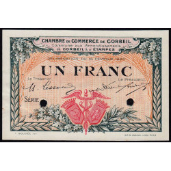 Corbeil - Pirot 50-4 - 1 franc - Sans série - 16/02/1920 - Spécimen - Etat : SUP+