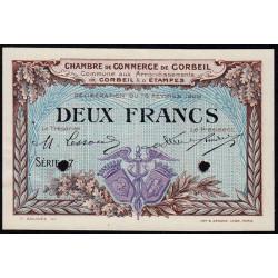 Corbeil - Pirot 50-6 - 2 francs - Série .7 - 16/02/1920 - Spécimen - Etat : SUP+