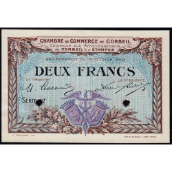 Corbeil - Pirot 50-6 - 2 francs - Spécimen - 1920 - Etat : SUP+