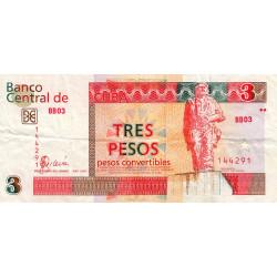 Cuba - Pick FX 47 - 3 pesos - 2006 - Etat : TTB-