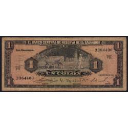 El Salvador - Pick 105 - 1 colon - Série FD - 08/09/1964 - Etat : B+