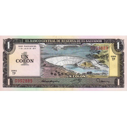 El Salvador - Pick 125a1 - 1 colon - 07/07/1977 - Etat : SPL