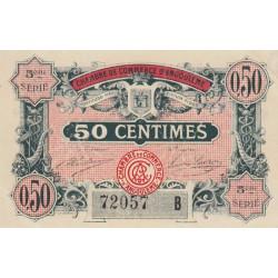 Angoulême - Pirot 9-40 - 50 centimes - 5ème série B - 11/04/1917 - Etat : TTB+