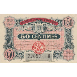 Angoulême - Pirot 9-40b-B - 50 centimes - 1917 - Etat : TTB+