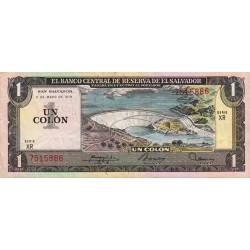 El Salvador - Pick 125a_2 - 1 colon - 1978 - Etat : TTB+