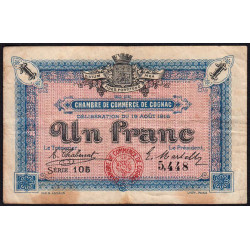 Cognac - Pirot 49-3 - 1 franc - 1916 - Etat : TB-