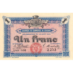 Cognac - Pirot 49-03 - 1 franc - Etat : SPL