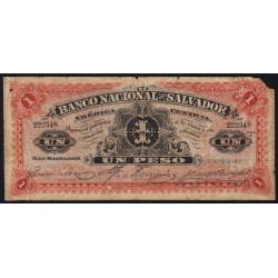 El Salvador - Pick S 161b - 1 peso - Série A - 10/01/1913 - Etat : B-