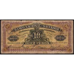 El Salvador - Pick S 163b - 5 pesos - Série A - 25/01/1908 - Etat : B+