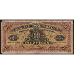 El Salvador - Pick S 163b - 5 pesos - Série A - janvier 1908 - Etat : B+