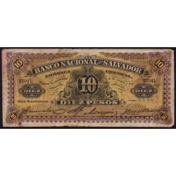 El Salvador - Pick S 163b - 5 pesos - Série A - janvier 1911 - Etat : B+