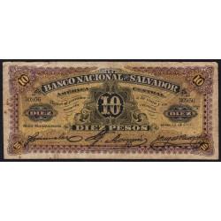 El Salvador - Pick S 163b - 5 pesos - Série A - 13/01/1911 - Etat : B+