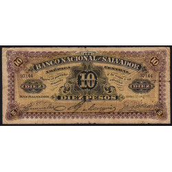 El Salvador - Pick S 163b - 5 pesos - Série A - 13/01/1911 - Etat : B