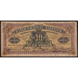 El Salvador - Pick S 163c - 5 pesos - Série A - mars 1908 - Etat : TB-