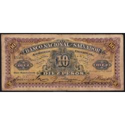 El Salvador - Pick S 163c - 5 pesos - Série A - mars 1908 - Etat : B+