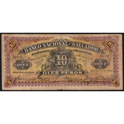 El Salvador - Pick S 163c - 5 pesos - Série A - 06/03/1908 - Etat : TB-