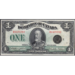 Canada - Pick 33n - 1 dollar - 1923 - Etat : TTB+