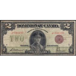Canada - Pick 34b - 1 dollar - 02/07/1923 - Etat : B+