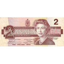 Canada - Pick 94b_1 - 2 dollars - 1987 - Etat : TB+