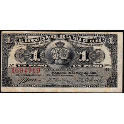 Cuba - Pick 47a - 1 peso - 15/05/1896 - Etat : TB